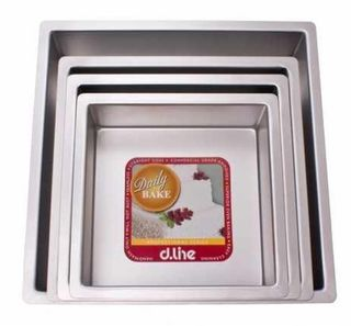 Daily Bake professional cake pan - square - 25cm