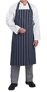 Bib apron - butchers stripe