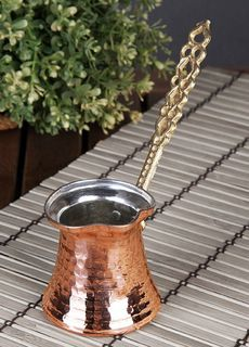 Handmade Copper Turkish coffee pot - 2 cup
