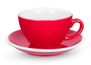 ACME cappuccino cup and saucer - red