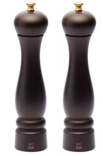 Peugeot Clermont salt and pepper mill set - choc - 24cm