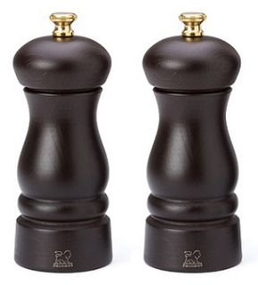 Peugeot Clermont salt and pepper mill set - choc - 13cm