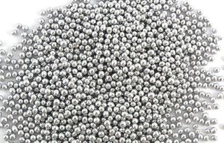 Silver Cachous round pearls - 2mm