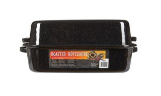 Graniteware enamel rectangular covered roaster - 54cm