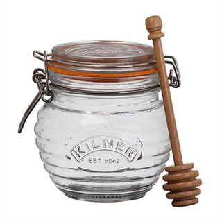 Kilner honey pot and drizzler