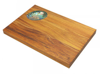 Rimu cheeseboard with paua shell