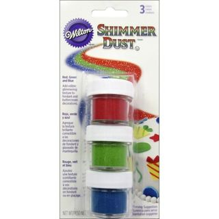 Wilton Shimmer Dust - red/ blue/ green