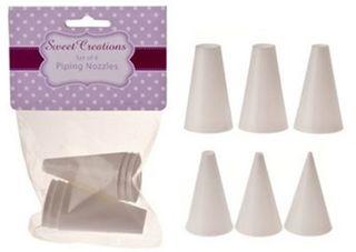 Sweet Creations plastic piping nozzles - Set of 6 plain dots