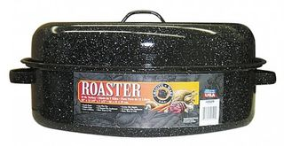 Graniteware oval enamel covered roaster - 45cm