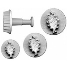 Plunger icing cutters - holly leaf