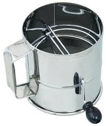 Rotary flour sifter - 8 cup