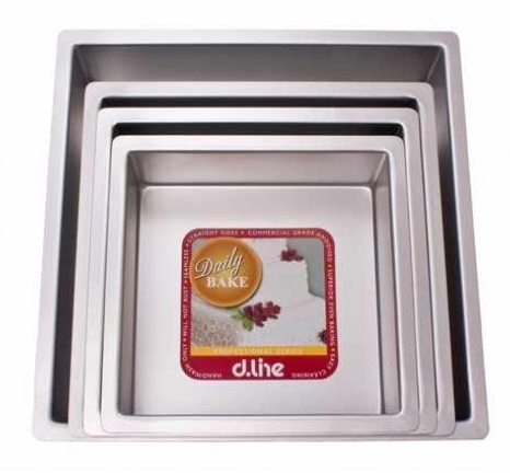 Daily Bake professional cake pan - square - 10cm