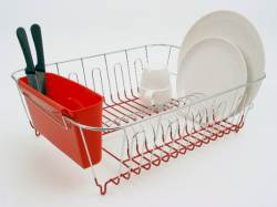 Dish drainer with caddy - large