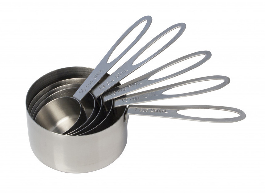 Cuisena stainless steel measuring cup set of 5