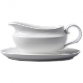 Rockingham gravy boat and saucer