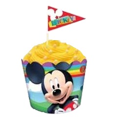 Baking cups and flag picks - Mickey Mouse
