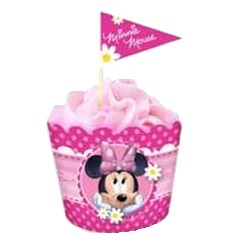 Baking cups and flag picks - Minnie Mouse