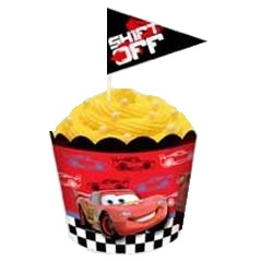 Baking cups and flag picks - Cars