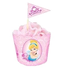 Baking cups and flag picks - Princess