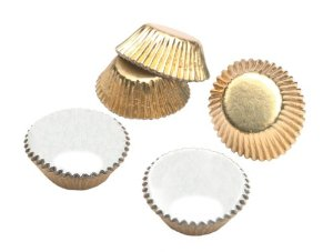 Wilton foil candy cups - gold