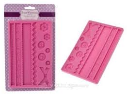 Sweet Creations silicone fondant mould - buttons and borders