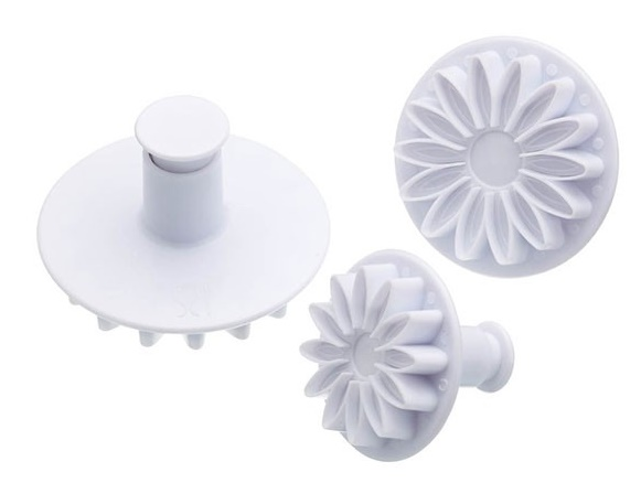Plunger icing cutters -  sunflower