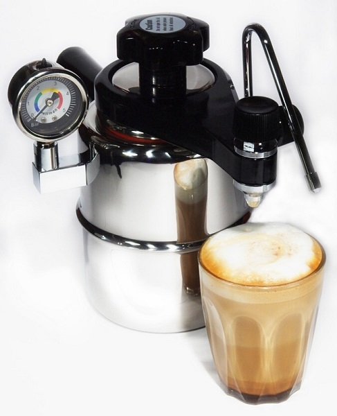 Bellman CX-25P stovetop coffee & milk frother machine