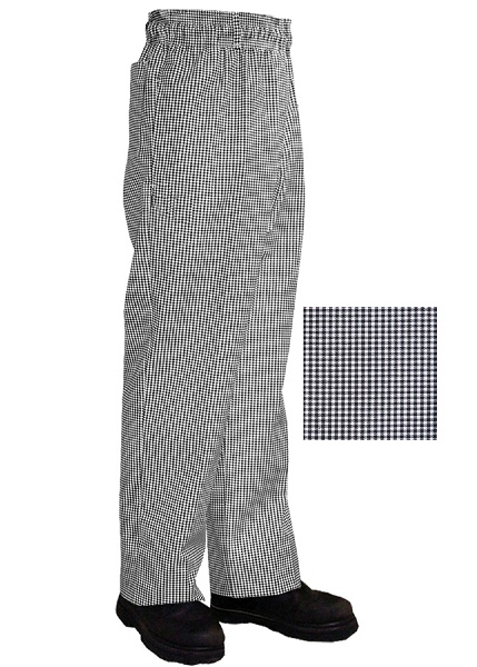 Chefs trousers - black and white check