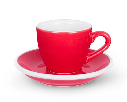 ACME demitasse cup and saucer - red