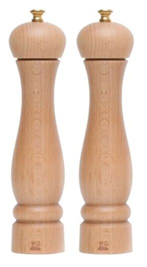 Peugeot Clermont salt and pepper mill set - natural - 24cm