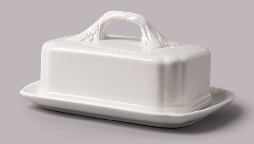 Rockingham covered butter dish