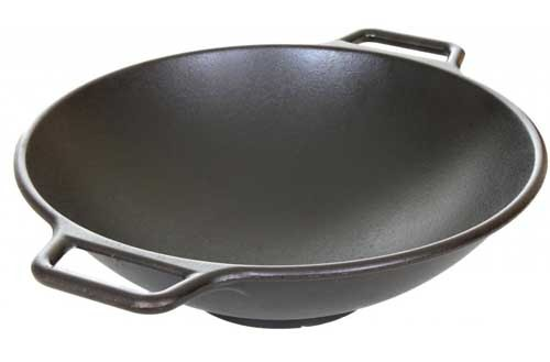 Lodge cast iron wok - 35cm