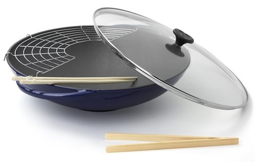 Chasseur French wok - navy blue -  36cm