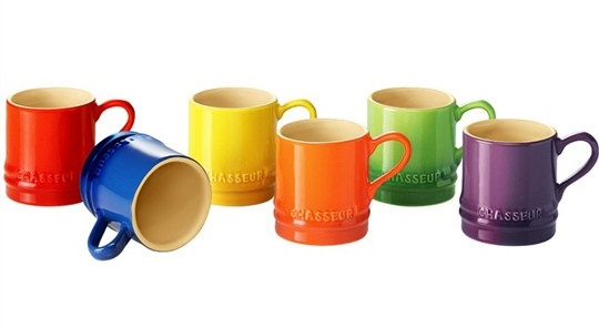 Chasseur petit mug - 6 piece set - assorted colours - 100ml