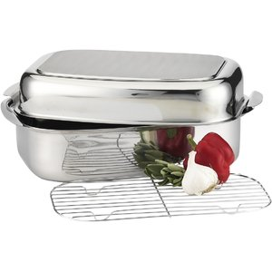 Integra stainless steel roaster with lid
