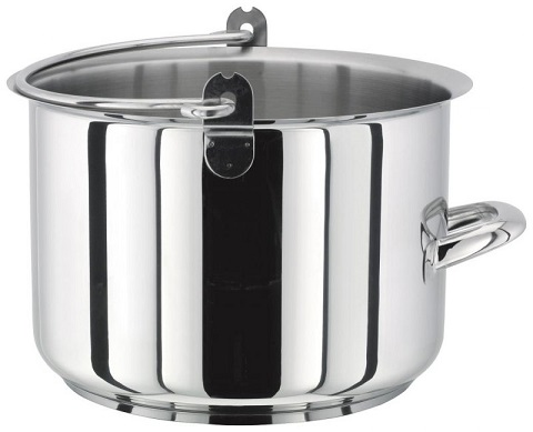 Stellar stainless steel maslin preserving pan