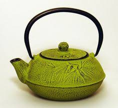 Cast iron teapot - gingko green- 600ml