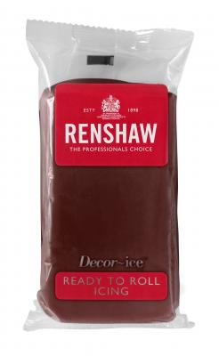 Renshaw ready to roll icing - 250g - choc brown