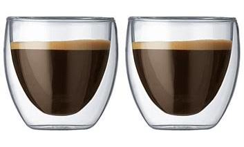 Bodum Pavina double wall glasses - 80ml