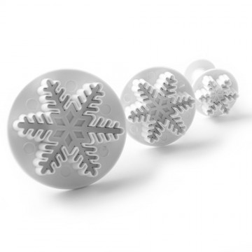 Plunger icing cutters - snowflake