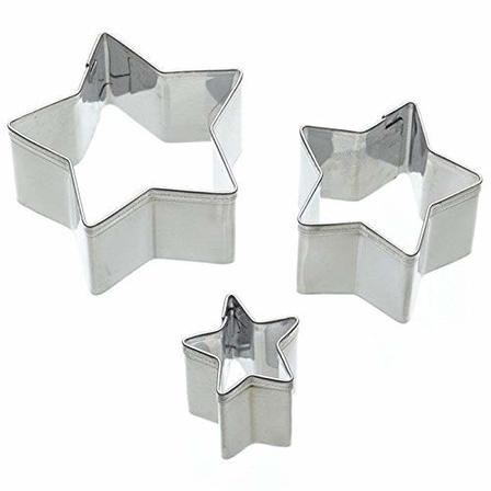 Star cookie cutters - 1.8, 3.5 & 5.5cm