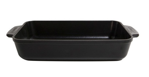 La Cuisine cast iron roaster - matt black - 30 x 19cm