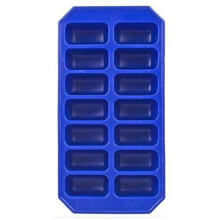 Flexible silicone ice tray