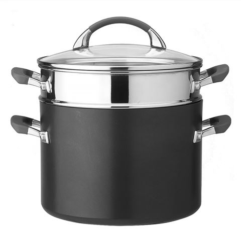 Anolon Endurance stock pot with pasta insert - 24cm