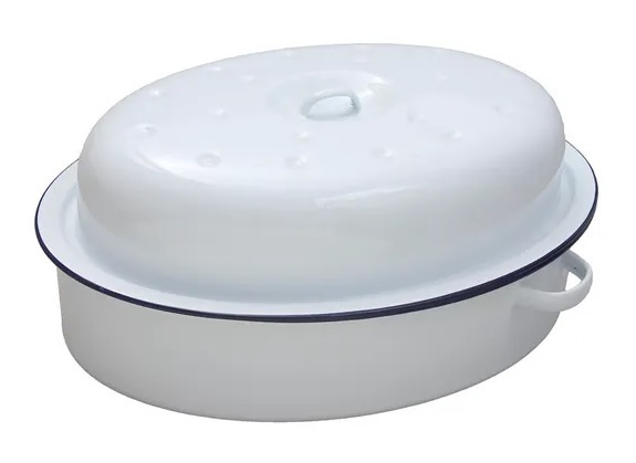 Falcon oval enamel covered roaster - 36cm