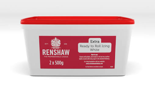 Renshaw ready to roll icing - white - 1kg