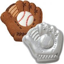 Wilton softball mitt cake pan