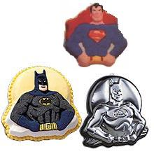 Wilton batman superman cake pan