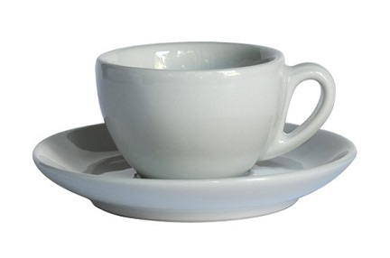 ACME cappuccino cup and saucer set - white