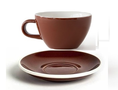 ACME Evo cappuccino cup and saucer - brown